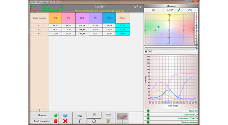 Paper Manager software data display